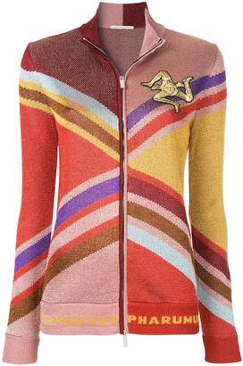 Marco De Vincenzo colour block zipped cardigan