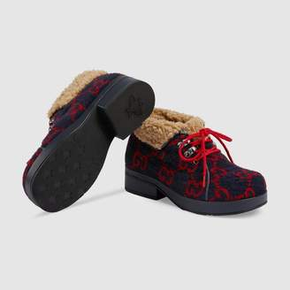 Gucci Children's GG wool boot