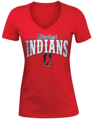 5th & Ocean Women's Cleveland Indians Glitter T-Shirt