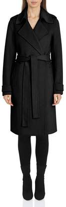 Badgley Mischka Belted Wrap Coat