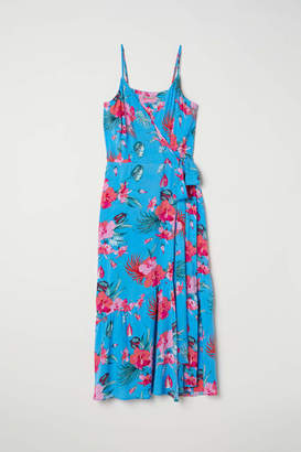 H&M H & M+ Wrap Dress - Bright blue/floral - Women