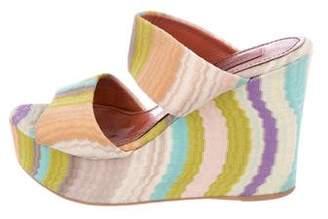 Missoni Multicolor Slide Wedges