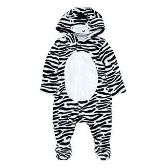 Mothercare Unisex Baby Unisex Zebra Fluffy Pyjama Sets,(Manufacturer Size: 68)