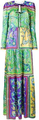 Philosophy di Lorenzo Serafini long print tunic dress