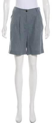 Iris von Arnim High-Rise Knee-Length Shorts