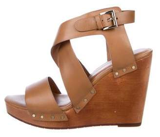 Joie Leather Wedge Sandals