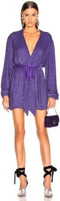 retrofete Gabrielle Robe Dress in Metallic Purple | FWRD