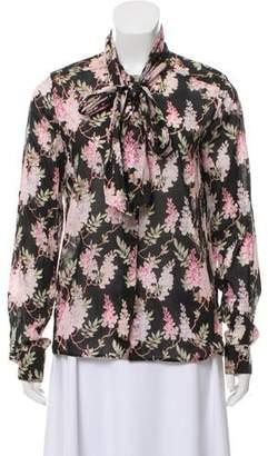 Celine Floral Button-Up Blouse
