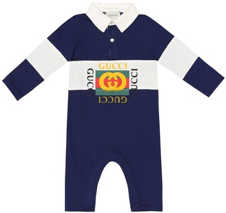 Gucci Kids Baby logo cotton onesie