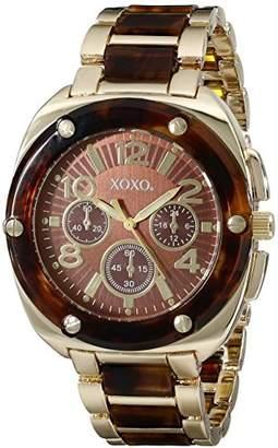 XOXO Women's XO5644 Gold Tortoise Bracelet Analog Watch