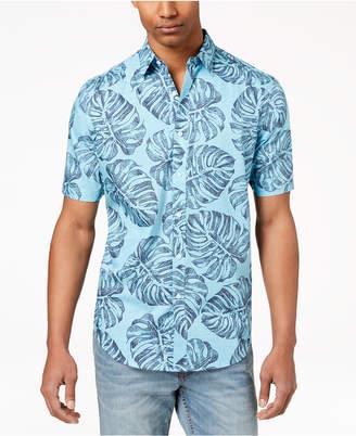 Club Room Men's Palm-Print Shirt, Created for Macy's