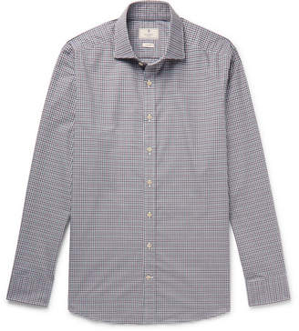 Hackett Slim-Fit Cutaway-Collar Checked Cotton Shirt