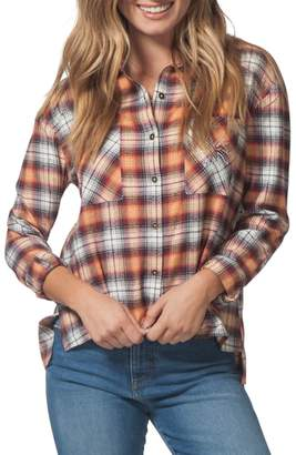 Rip Curl One Step Plaid Flannel Top