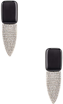 Saint Laurent Crystal Embellished Earrings