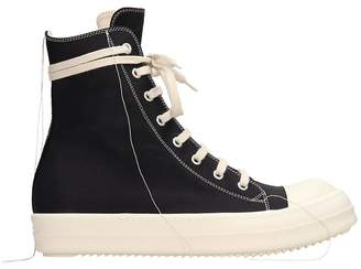 Drkshdw 2 Tone Stitch Black Canvas Sneakers