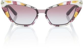Dolce & Gabbana Floral cat-eye sunglasses
