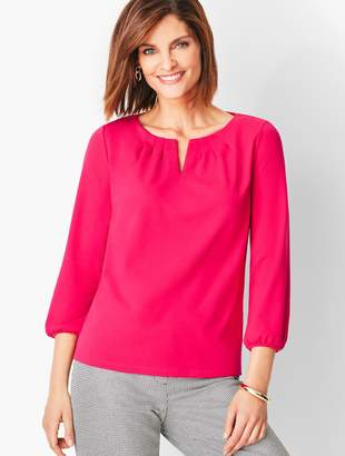 Talbots Pleated Tee - Solid