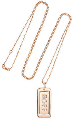 Diane Kordas Boss Lady 18-karat Rose Gold Diamond Necklace