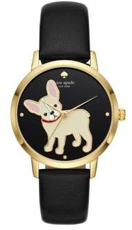 Kate Spade Grand Metro Leather-Strap Watch