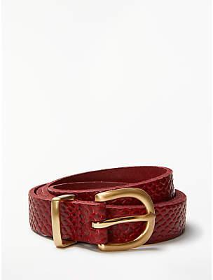 John Lewis & Partners Stella Snake Pattern Jeans Leather Belt