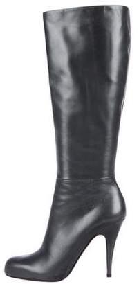 Prada Metallic Knee-High Boots