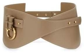 Zimmermann Unbridled Leather Curve Waist Belt