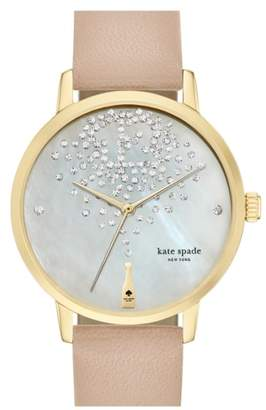 Kate Spade 'metro' Leather Strap Watch, 34mm