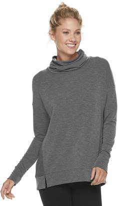 Tek Gear Women's Forward Seam Turtle Neck Top