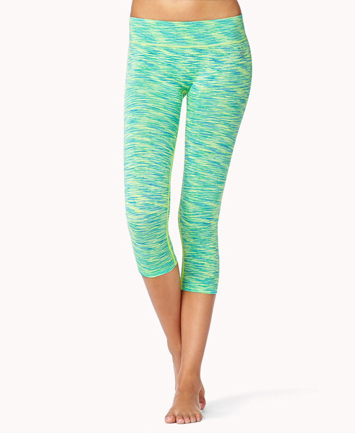 Forever 21 Space Dye Skinny Workout Capri