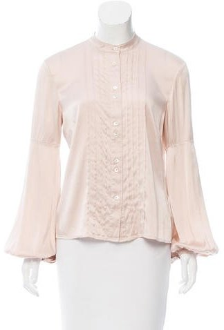 Burberry London Silk Pleated Blouse