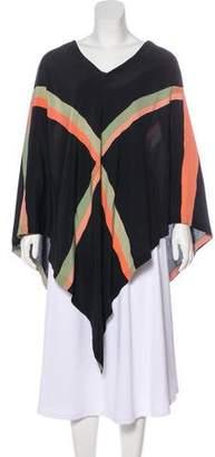 Bottega Veneta Silk Printed Poncho