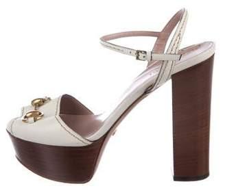 Gucci Horsebit Platform Sandals