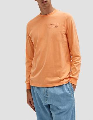 Martine Rose Classic LS T-Shirt in Peach