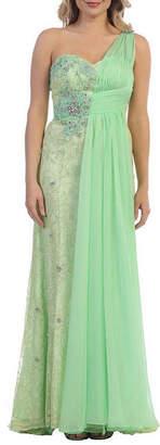Asstd National Brand Beautiful One Shoulder Pageant Evening Gown