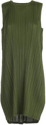 Pleats Please Issey Miyake Dress W/s Crew Neck Rounded Bottom