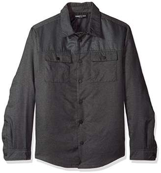 Kenneth Cole New York Men's Two Pocket Pieced Shirt Jacket