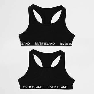 River Island Girls Black crop top pack