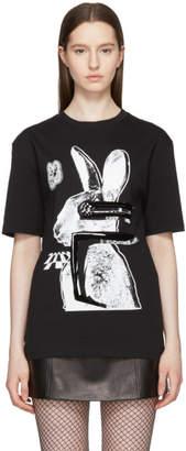 McQ Black and White Glitch Bunny Classic T-Shirt