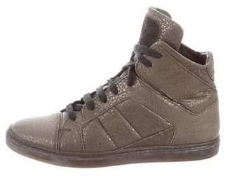 Brunello Cucinelli Metallic High-Top Sneakers