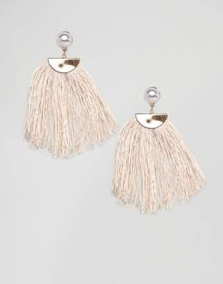 NY:LON Cream Tassel Earrings
