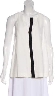 Proenza Schouler Sleeveless Split Neck Top