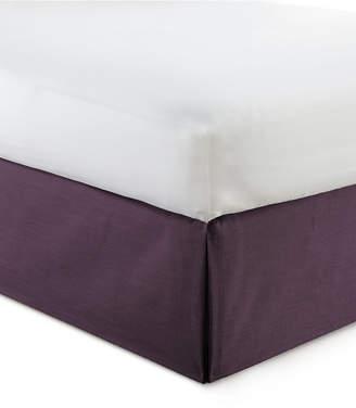 "Cambric Eggplant Bedskirt 15"" Drop Twin/Twin-xl Bedding"