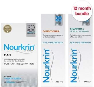 Nourkrin Man 12 months + Free 4x Nourkrin Shampoo & Scalp Cleanser 150ml & 4x Nourkrin Conditioner 150ml