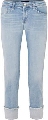 J Brand Sadey Mid-rise Slim-leg Jeans - Light denim