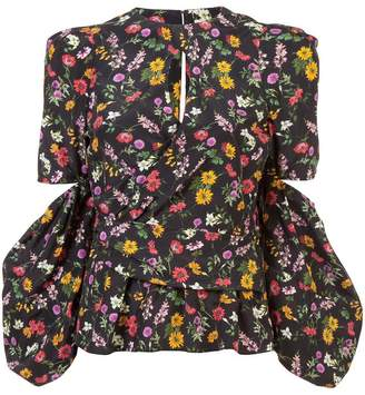 Hellessy floral cut out blouse