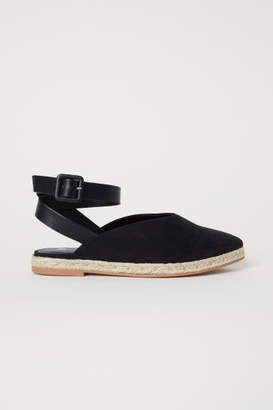 H&M Espadrilles with Ankle Strap - Black