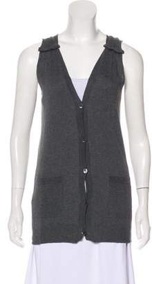 Miu Miu Sleeveless V-neck Cardigan