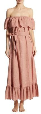 Marysia Off-the-Shoulder Linen Dress $649 thestylecure.com