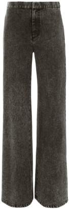 ADAM by Adam Lippes Acid Wash Wide Leg Denim Pants