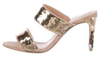 Alexandre Birman Sequin Slide Sandals